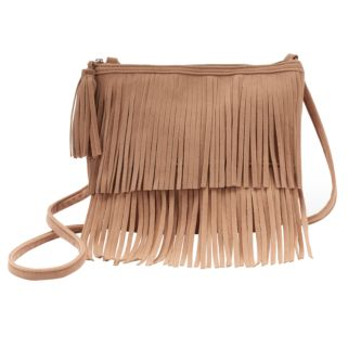 Girls 4-16 Faux-Suede Fringe Crossbody Bag