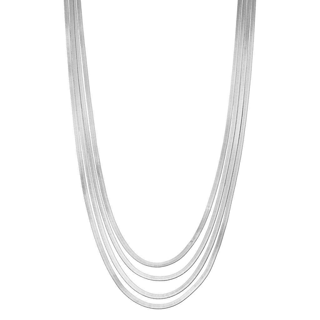 Simply Vera Vera Wang Multi Strand Omega Chain Necklace