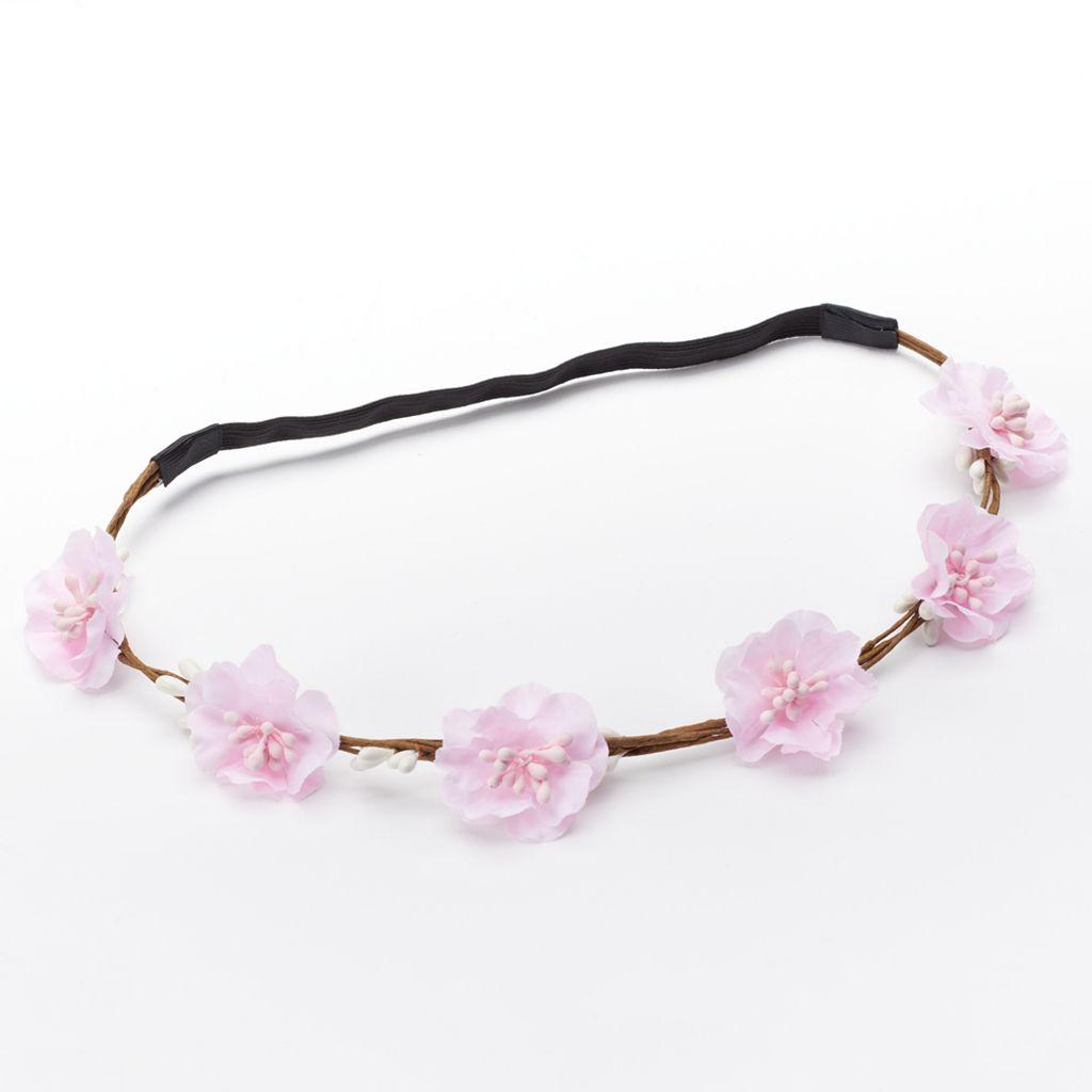 Girls 4-16 Floral Crown Headband