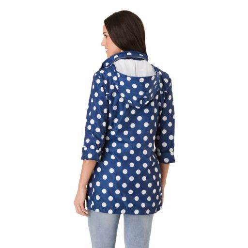 Women's Haggar Hooded Polka-Dot Elastic-Waist Jacket