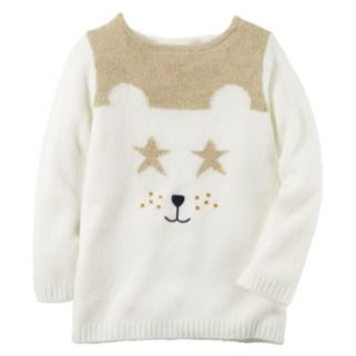 Baby Girl Carter's Animal Face Sweater