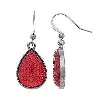 Red Caviar Nickel Free Teardrop Earrings