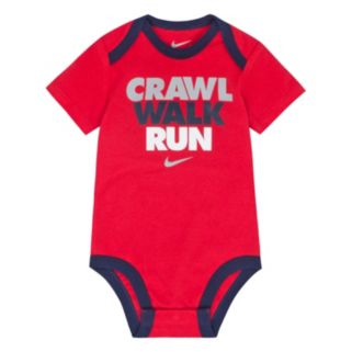 "Baby Boy Nike ""Crawl, Walk, Run"" Graphic Bodysuit"