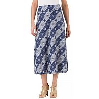Women's Haggar Pull-On Printed Maxi Skirt
