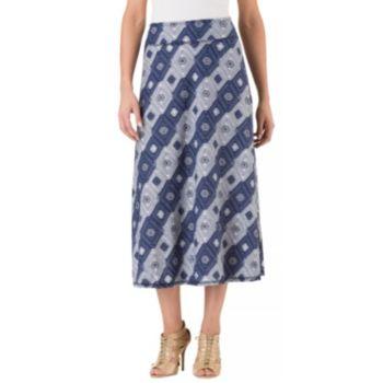 Women's Haggar Pull-On Printed Maxi Skirt