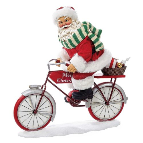 Kurt Adler 10-in. Bicycle Santa Christmas Table Decor