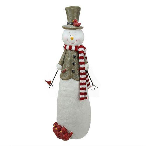 Glitter Snowman Christmas Table Decor
