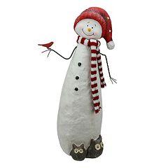 Glitter Snowman & Owls Christmas Table Decor