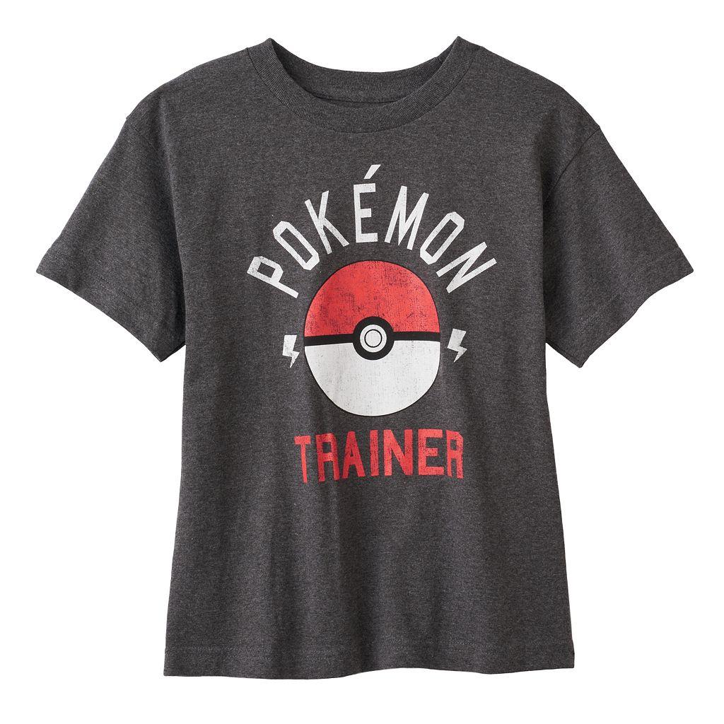 Boys 8-20 Pokemon Trainer Tee