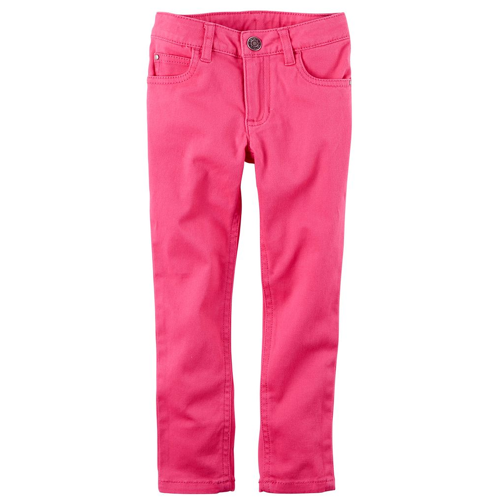 Toddler Girl Carter's Pink Skinny Stretch Twill Pants