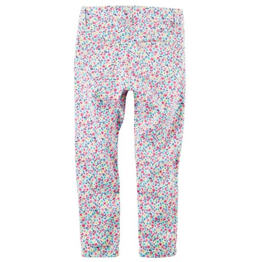 Toddler Girl Carter's Floral Skinny Stretch Twill Pants