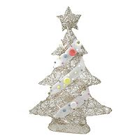 Pre-Lit Glitter Christmas Tree Table Decor