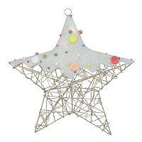 Pre-Lit Glitter Star Christmas Wall Decor