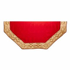 Kurt Adler 54-in. Red Jacquard & Gold Border Tree Skirt