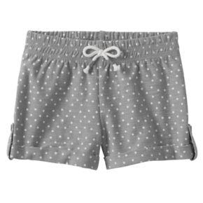 Baby Girl Jumping Beans® Dot Slubbed Cuffed Shorts