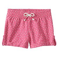 Baby Girl Jumping Beans® Dot Slubbed Cuffed Shorts