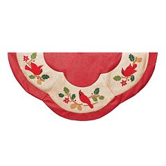 Kurt Adler 48-in. Cardinal Appliques Tree Skirt