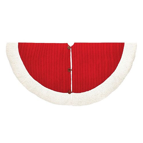 Kurt Adler 48-in. Cable Knit Tree Skirt