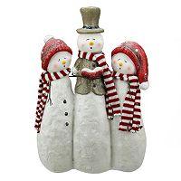 Glitter Caroling Snowmen Christmas Table Decor