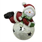 Snowman Christmas Tealight Candle Holder