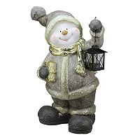 Metallic Snowman Table Decor