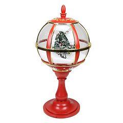 Musical Light-Up Snowy Street Lamp Christmas Table Decor