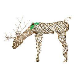Pre-Lit Feeding Reindeer Outdoor Christmas Decor