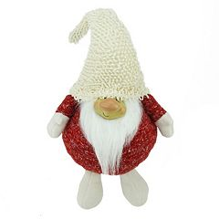 Plush Smiling Gnome Christmas Table Decor