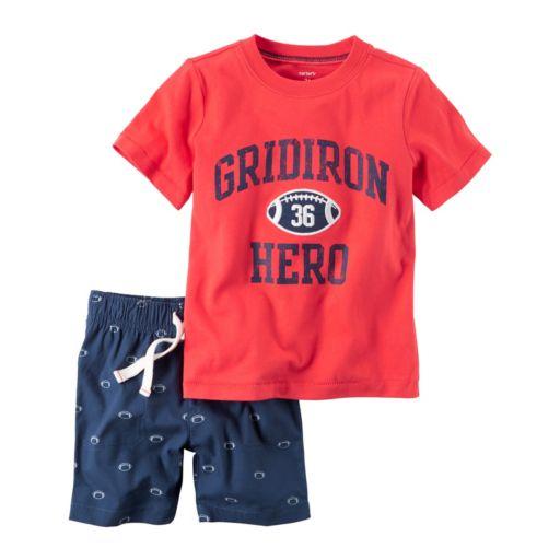"Baby Boy Carter's ""Gridiron Hero"" Tee & Football Shorts Set"