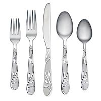 Cambridge Zehira Frost 42-pc. Flatware Set with Buffet Server