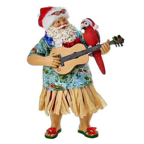 Kurt Adler 11-in. Tropical Santa Christmas Table Decor