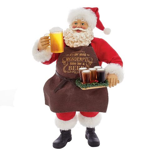 Kurt Adler 11-in. Beer Santa Christmas Table Decor