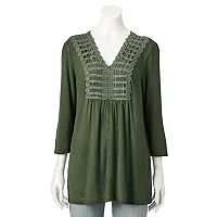 Women's World Unity Embellished Crochet Top