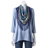 Women's World Unity Fringe Scarf Tee