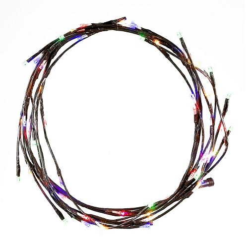 Kurt Adler 6-ft. LED Multi-Colored Twinkle Brown Christmas Garland