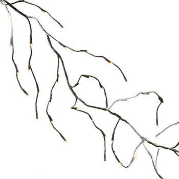 Kurt Adler 6-foot LED Warm White Twinkle Frosted Vine Garland P7405TWEC
