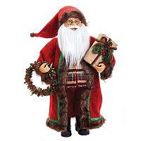 Kurt Adler 18-in. Standing Santa & Wreath Christmas Decor