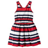 Toddler Girl Carter's Red, White & Blue Striped Dress
