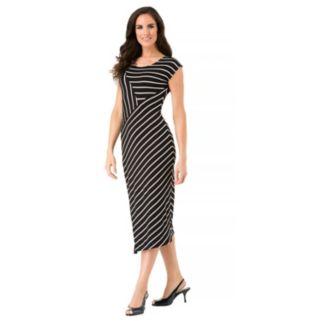 Women's Haggar Cap Sleeve Stripe Dress