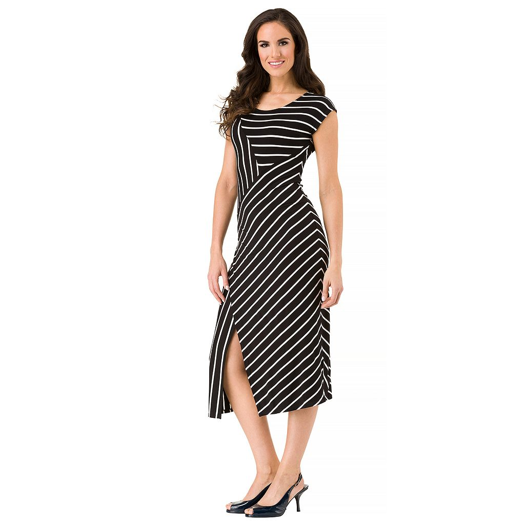 Women's Haggar Cap Sleeve Stripe Dress