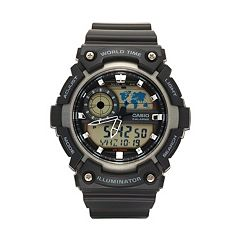Casio Men's Analog-Digital World Time Watch - AEQ200W-1AV
