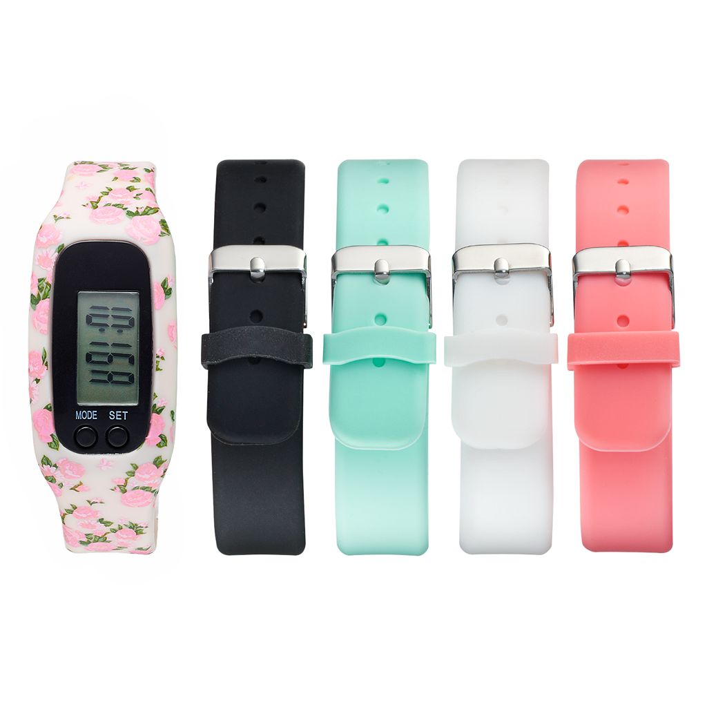 B-Fit Women's Activity Tracker & Interchangeable Band Set - KO2224BK598-078