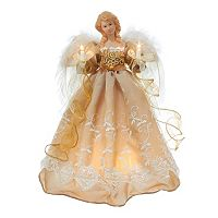 Kurt Adler 14-in. Pre-Lit Copper & Gold Angel Tree Topper