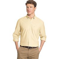 Big & Tall IZOD Essential Classic-Fit Solid Poplin Button-Down Shirt