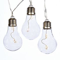 Kurt Adler Warm White Color-Changing Edison Bulb String Lights