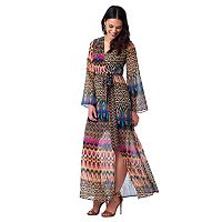 Women's Indication by ECI Abstract Faux-Wrap Maxi Dress