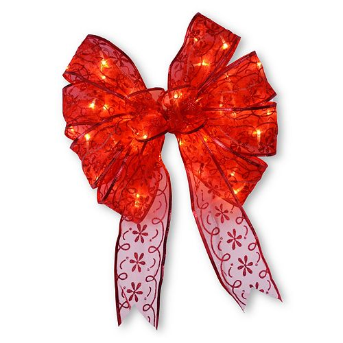 National Tree Company 9-in. Pre-Lit Bow Christmas Tree Topper