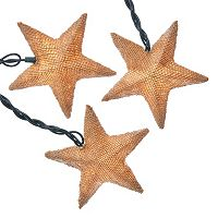 Kurt Adler Linen Star Light Set