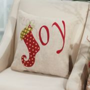 Mina Victory Home for the Holidays ''Joy'' Throw Pillow