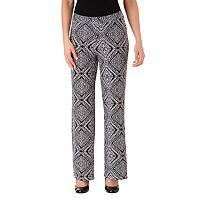Women's Haggar Geometric Wide-Leg Pull-On Pants
